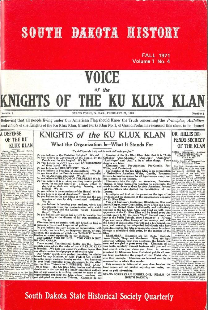 South Dakota History, volume 1 number 4