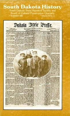 South Dakota History, volume 10 number 3