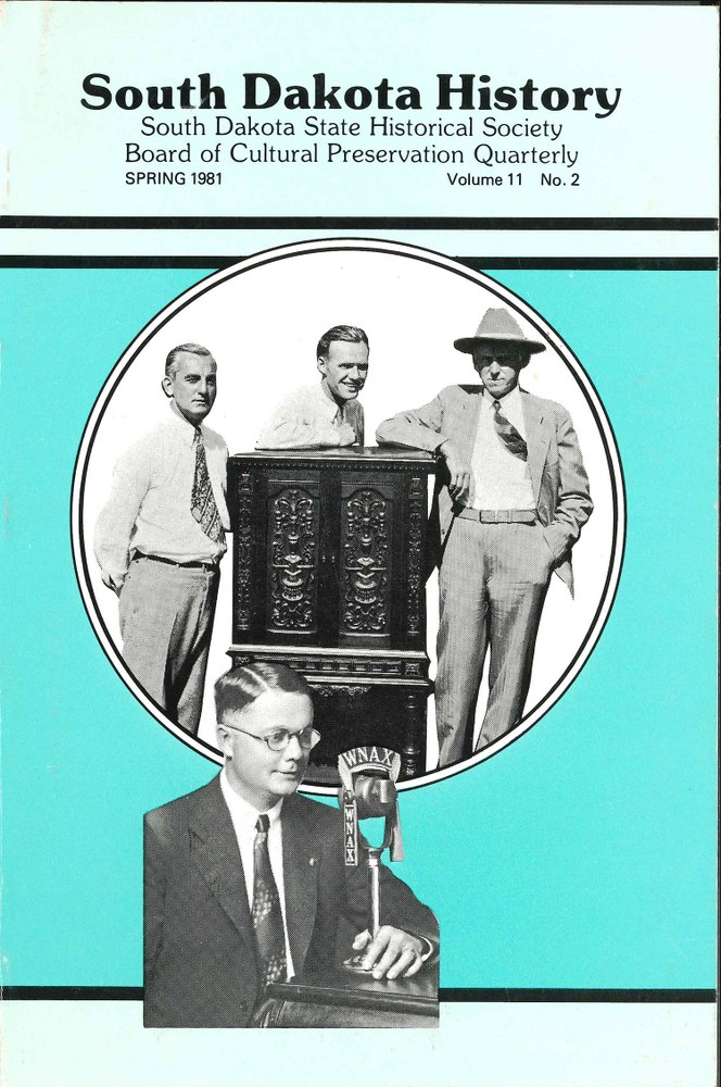 South Dakota History, volume 11 number 2