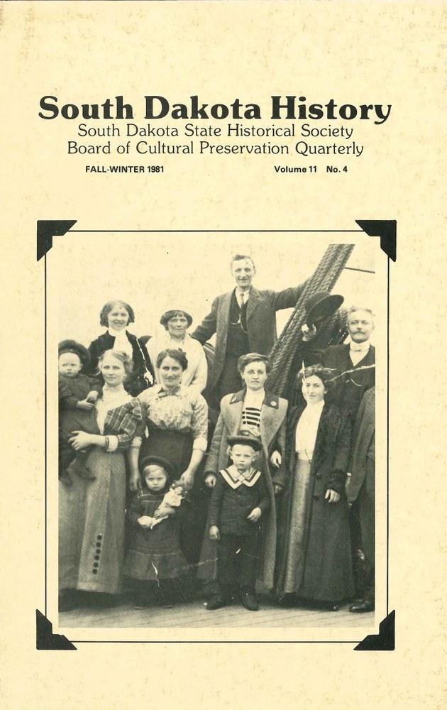 South Dakota History, volume 11 number 4