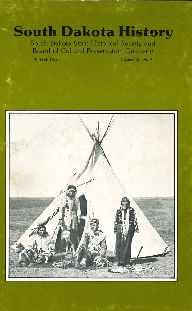 South Dakota History, volume 12 number 4