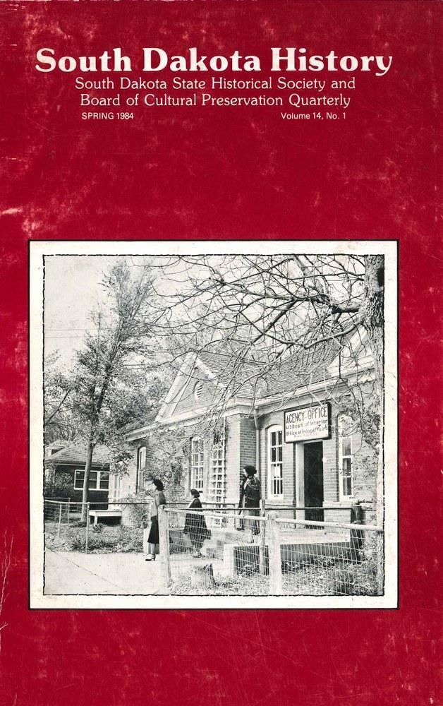South Dakota History, volume 14 number 1
