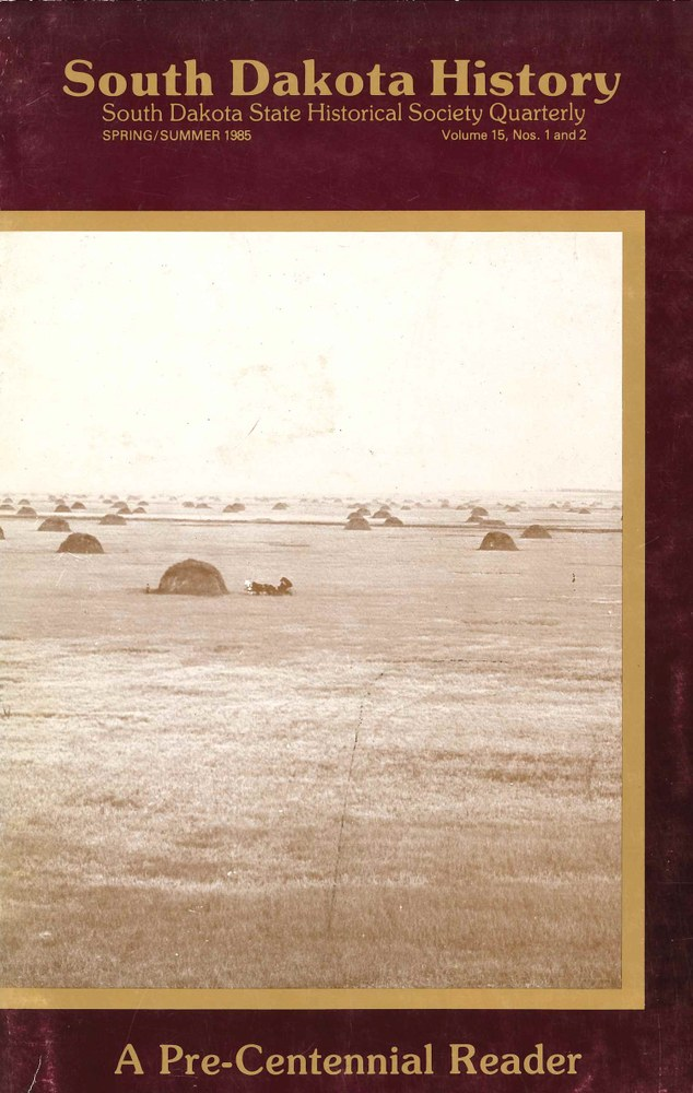South Dakota History, volume 15 number 1