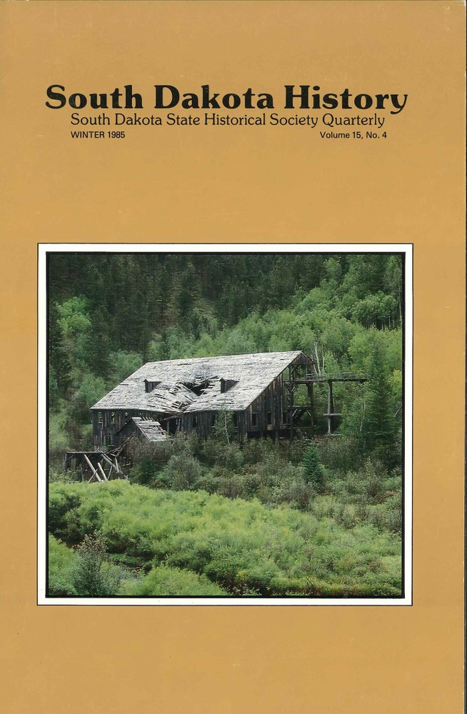 South Dakota History, volume 15 number 4
