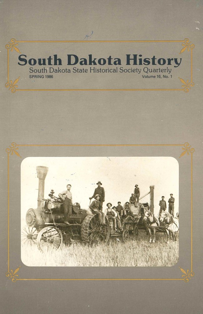 South Dakota History, volume 16 number 1
