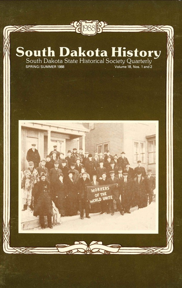 South Dakota History, volume 18 number 1