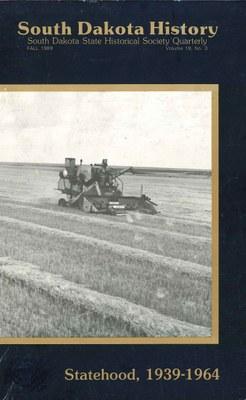 South Dakota History, volume 19 number 3