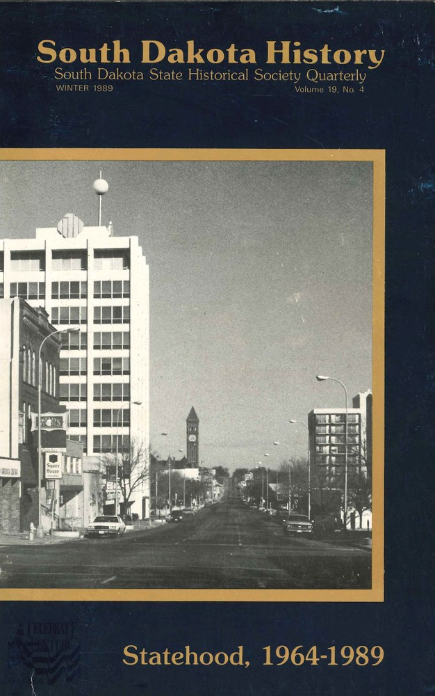 South Dakota History, volume 19 number 4