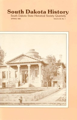 South Dakota History, volume 20 number 1