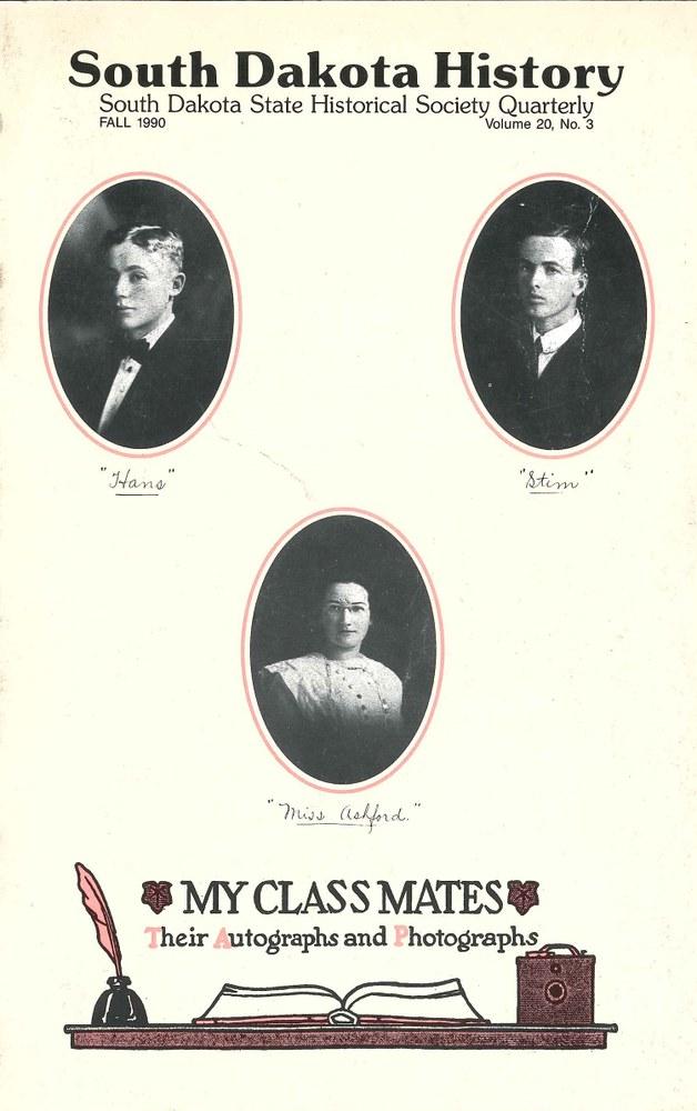 South Dakota History, volume 20 number 3