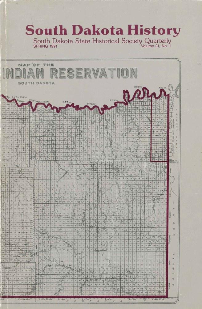 South Dakota History, volume 21 number 1