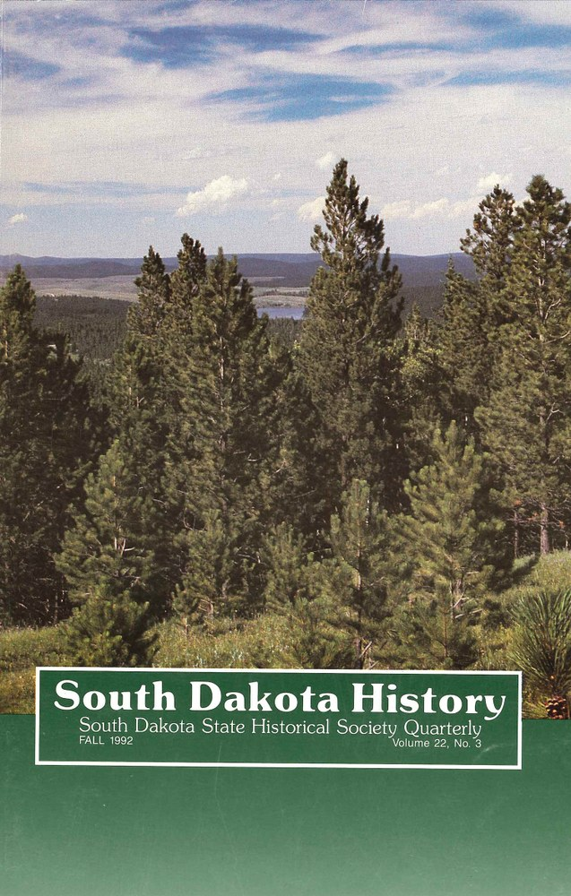 South Dakota History, volume 22 number 3