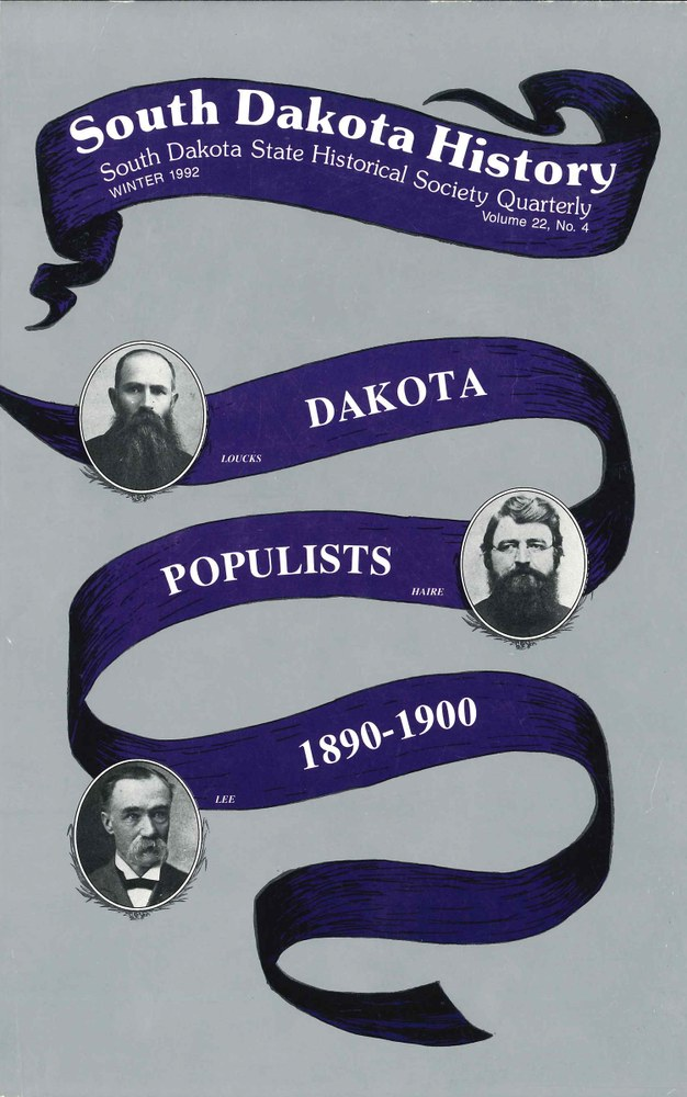 South Dakota History, volume 22 number 4