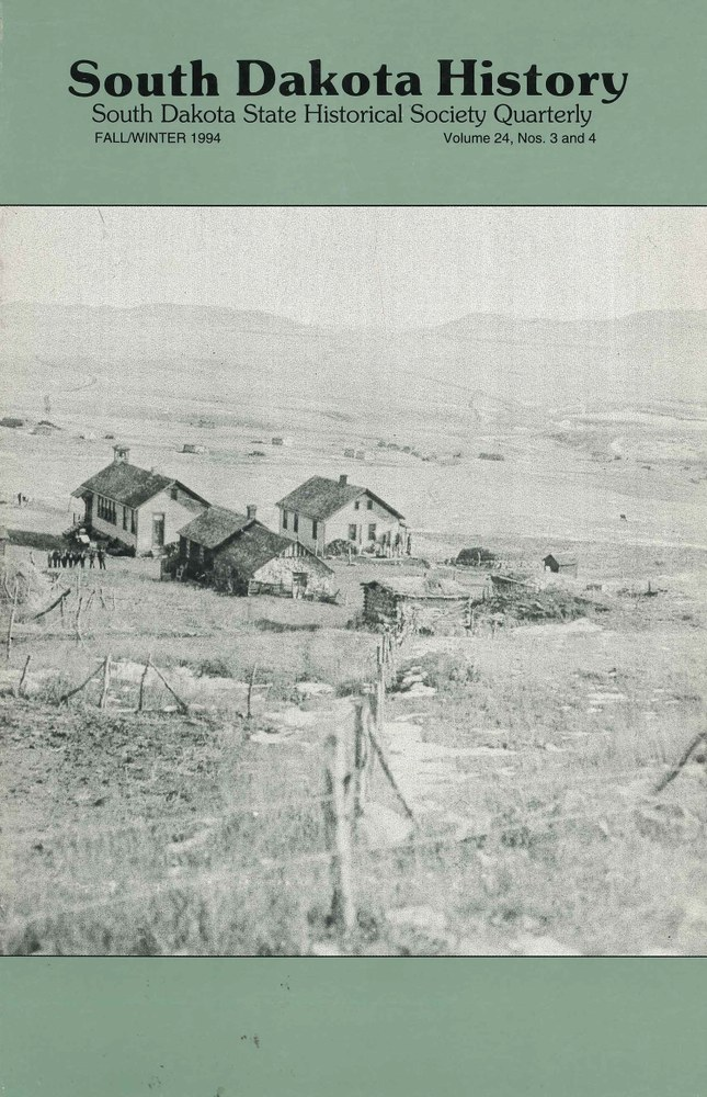 South Dakota History, volume 24 number 3