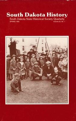 South Dakota History, volume 25 number 1
