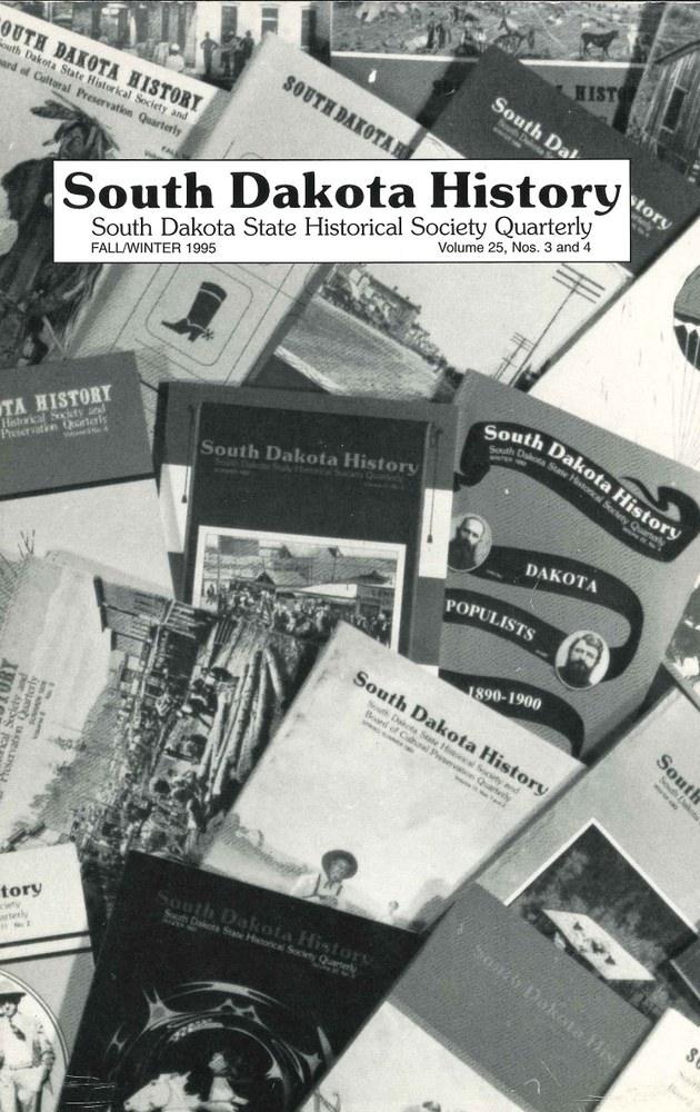 South Dakota History, volume 25 number 3