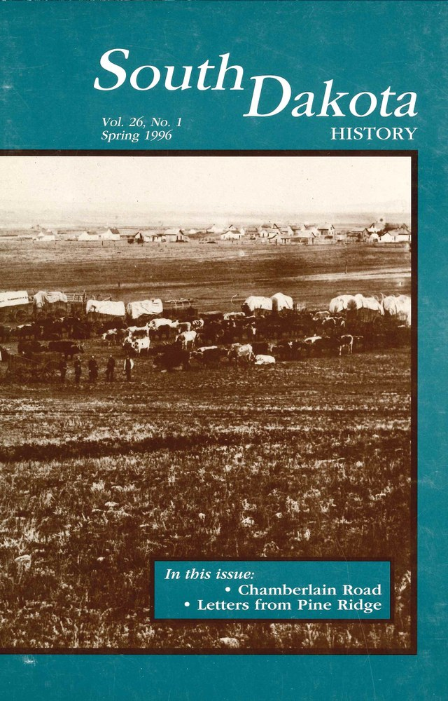 South Dakota History, volume 26 number 1