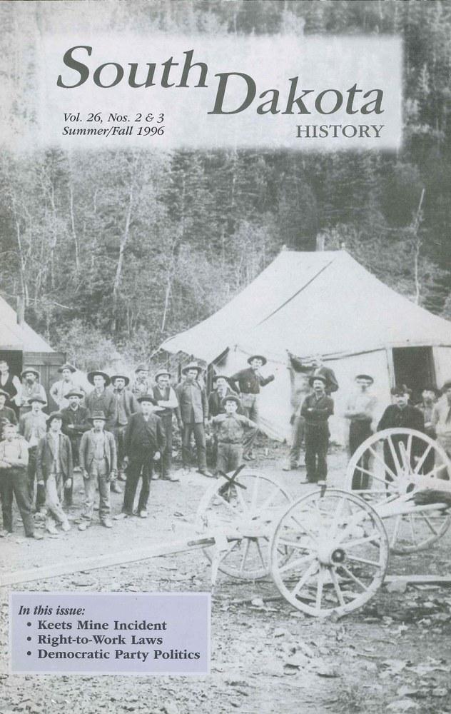 South Dakota History, volume 26 number 2