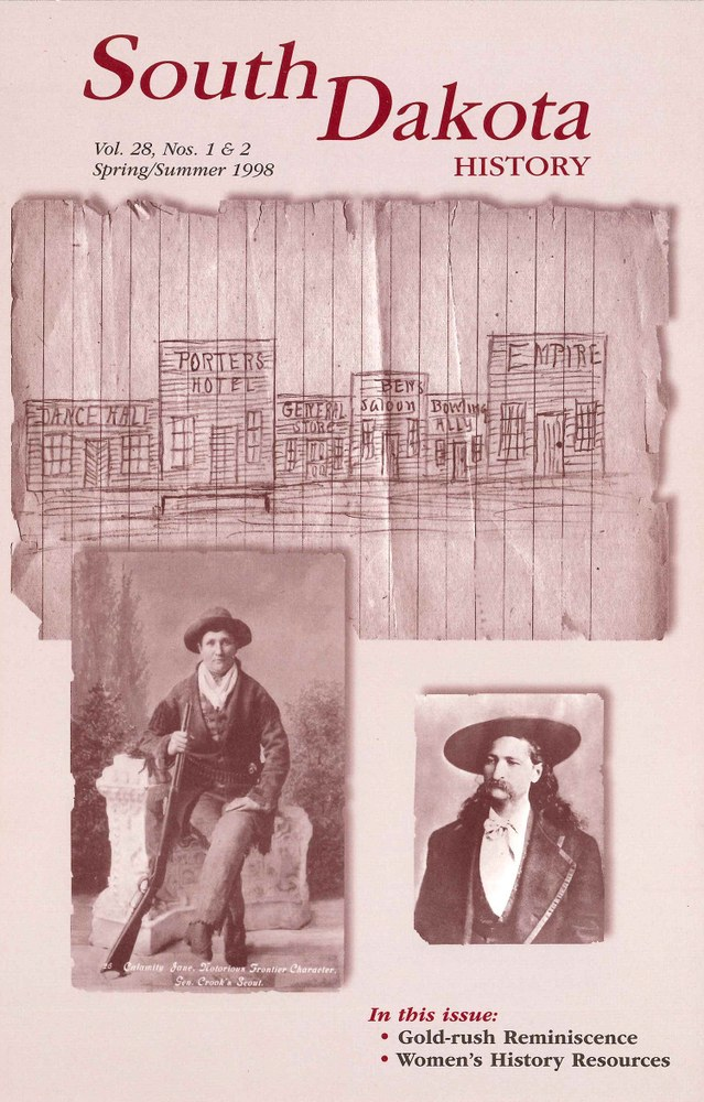 South Dakota History, volume 28 number 1