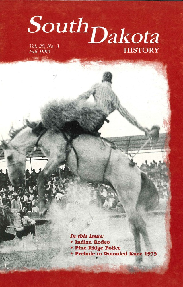 South Dakota History, volume 29 number 3