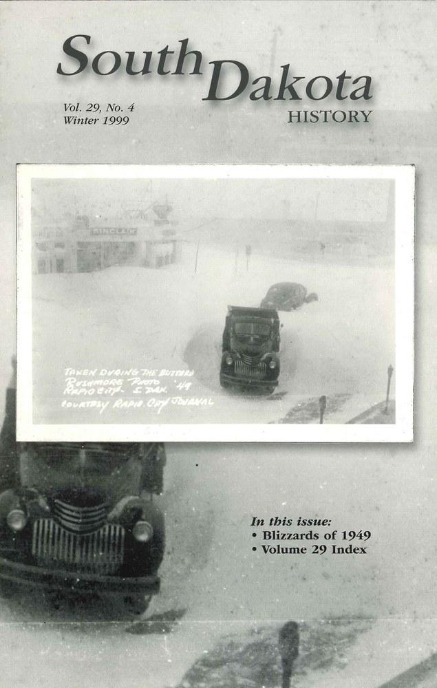 South Dakota History, volume 29 number 4