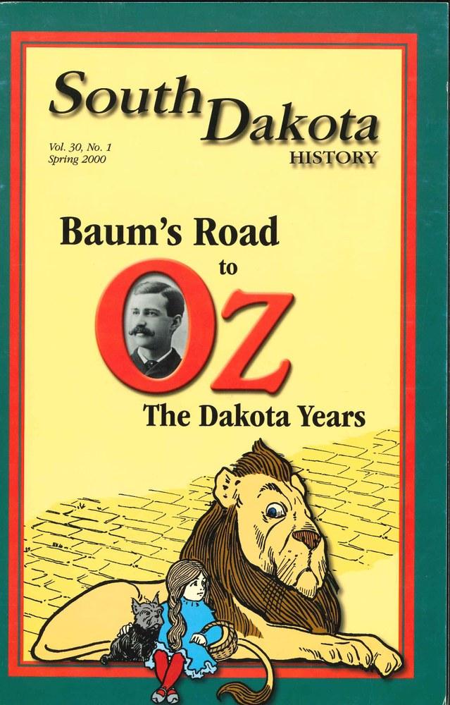 South Dakota History, volume 30 number 1