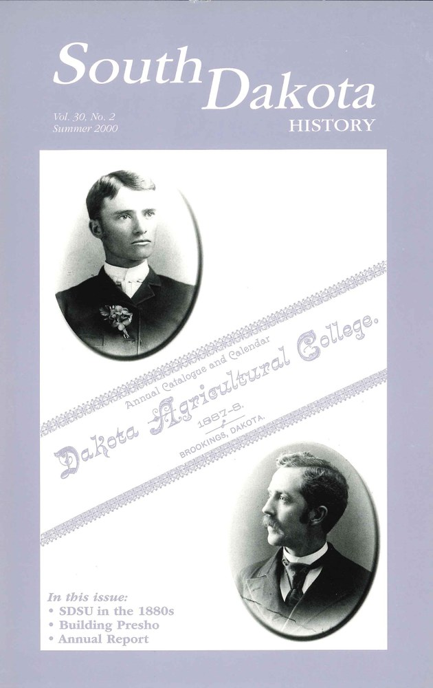 South Dakota History, volume 30 number 2