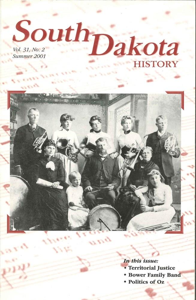 South Dakota History, volume 31 number 2