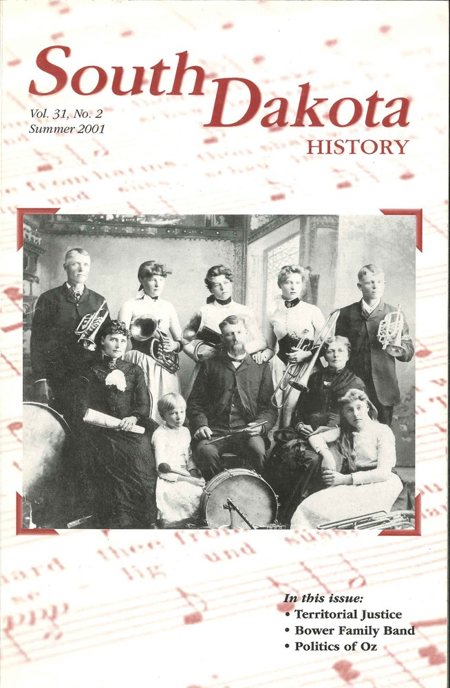 South Dakota History, volume 31 number 2