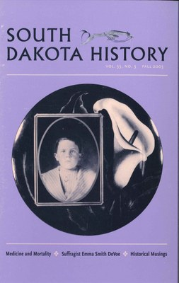 South Dakota History, volume 33 number 3