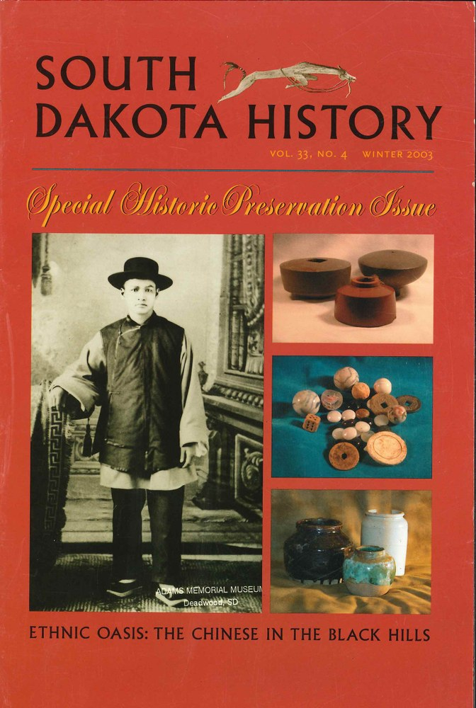 South Dakota History, volume 33 number 4