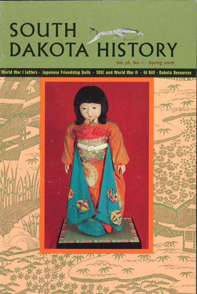 South Dakota History, volume 36 number 1