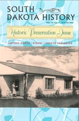 South Dakota History, volume 36 number 4
