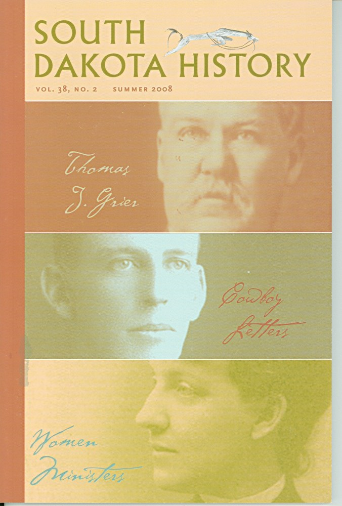 South Dakota History, volume 38 number 2