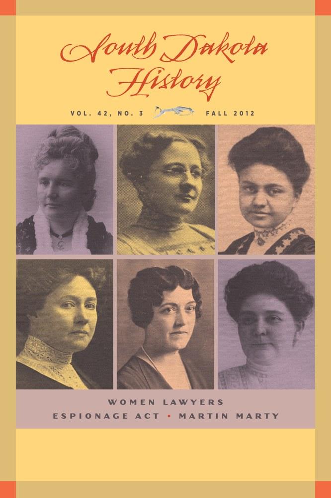 South Dakota History, volume 42 number 3