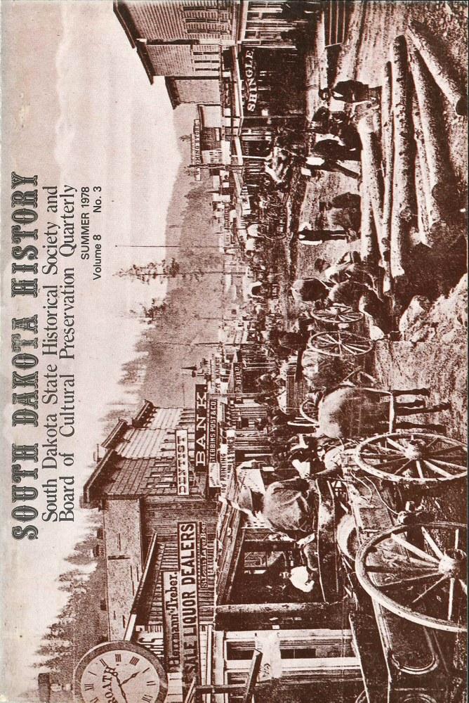South Dakota History, volume 8 number 3